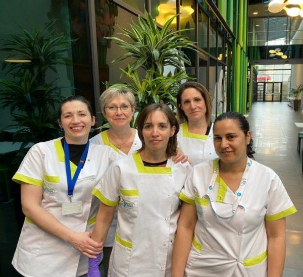 Les techniciennes de la société GREEN CLEAN (Windhof)