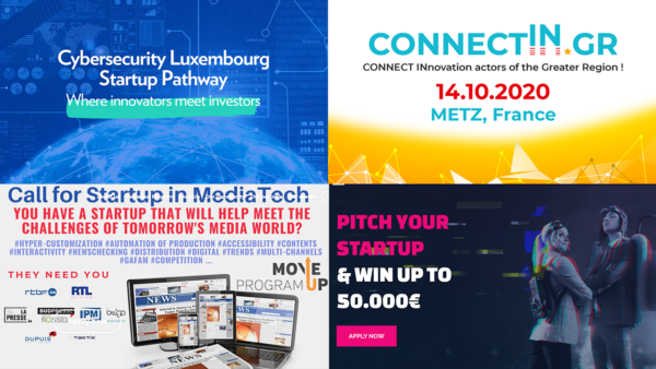 4 upcoming events opened to startups in the Greater Region